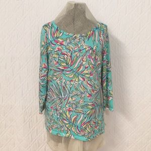 Talbot Sz Sm Floral Pullover Sweater